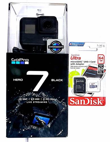 gopro hero 7 black lacrada chdhx-701 +cartão 64gb class 10
