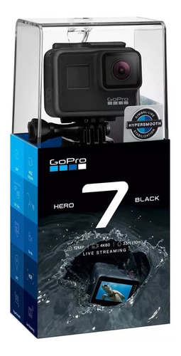 gopro hero 7 black prueba d agua, 4k, foto 12mp estabilizado