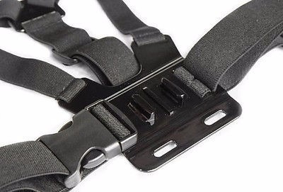 gopro hero camera chest chesty shoulder body mount adapter