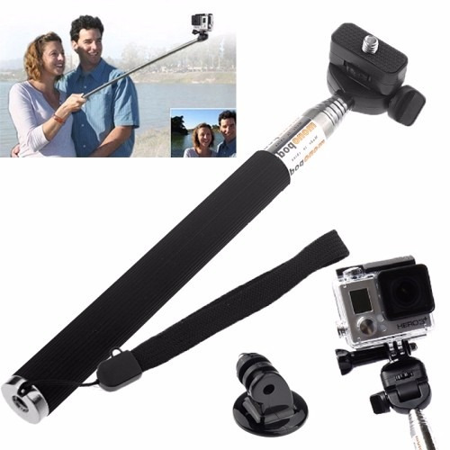 gopro hero monopod selfie esponja boia 3m pulseira ajustável