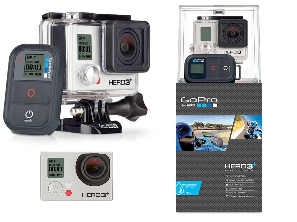 gopro hero3 black edition go pro 3 12mp 60qps 4k wi fi. Black Bedroom Furniture Sets. Home Design Ideas