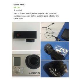 Gopro Hero3, Duas Baterias, Carregador, Cabo, Bolsa E Boia