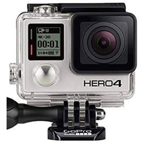 gopro hero4 - lcd - 3 baterias -  acessorios