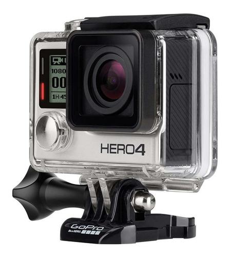 gopro hero4 silver camera lcd+64gb com bastão+2 baterias