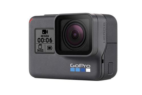 gopro hero6 black 4k/12mp +2 baterias+sd 128gb+acessórios