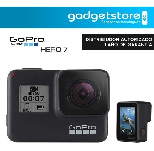 gopro hero7 black táctil vídeo 4k 12mp live stream agua 10m