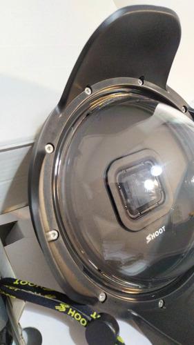 gopro hero7black + case de silicone + case rígida + dome.