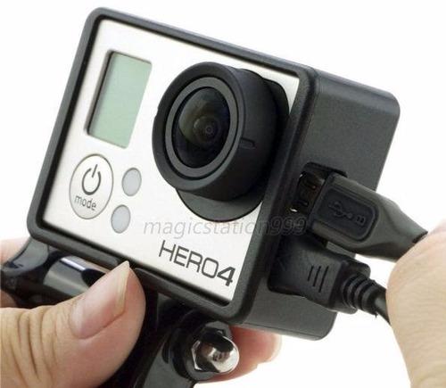 gopro kit frame y cubre lente y adaptador tripie
