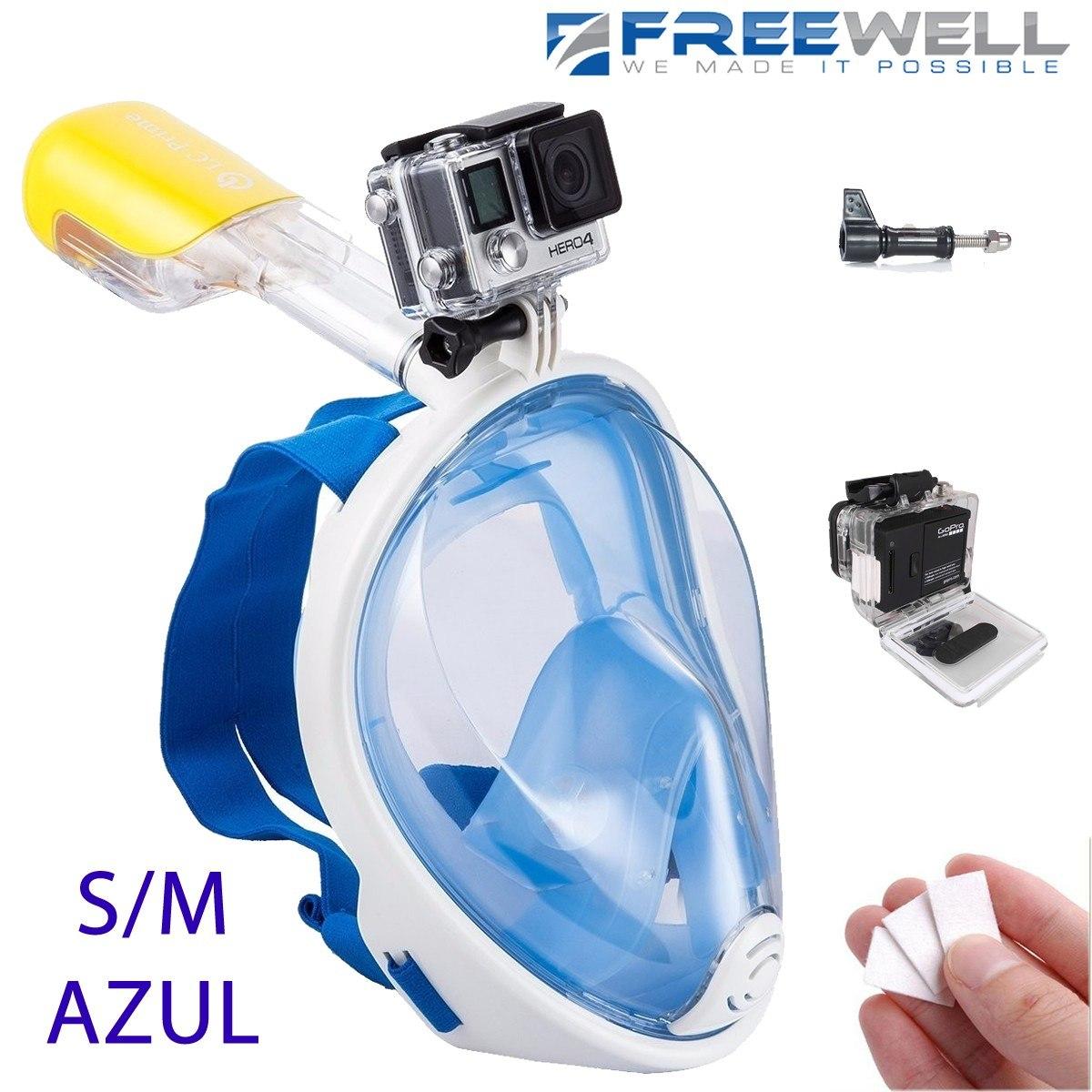 f535b06b9 gopro mascara snorkel easybreath buceo sj4000 (s m azul). Cargando zoom.