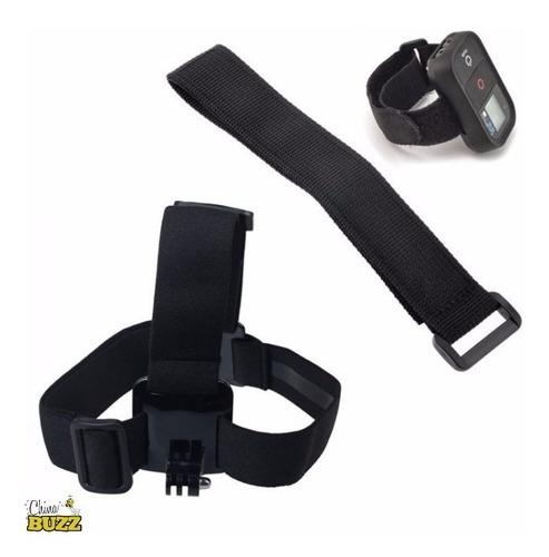 gopro suporte faixa de cabeça com fita para controle remoto