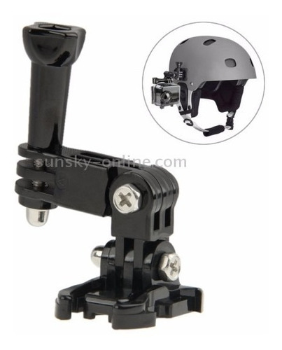 gopro suporte lateral ajustável capacete regulador