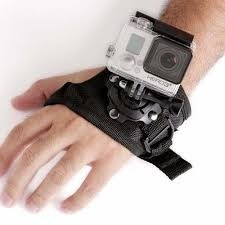 gopro suporte pulso luva 360º wrist suporte de mão gopro