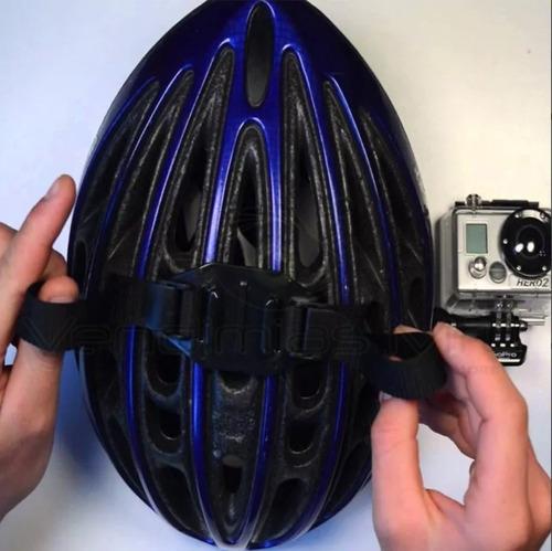 gopro vented helmet strap casco ranurado adaptador accesorio