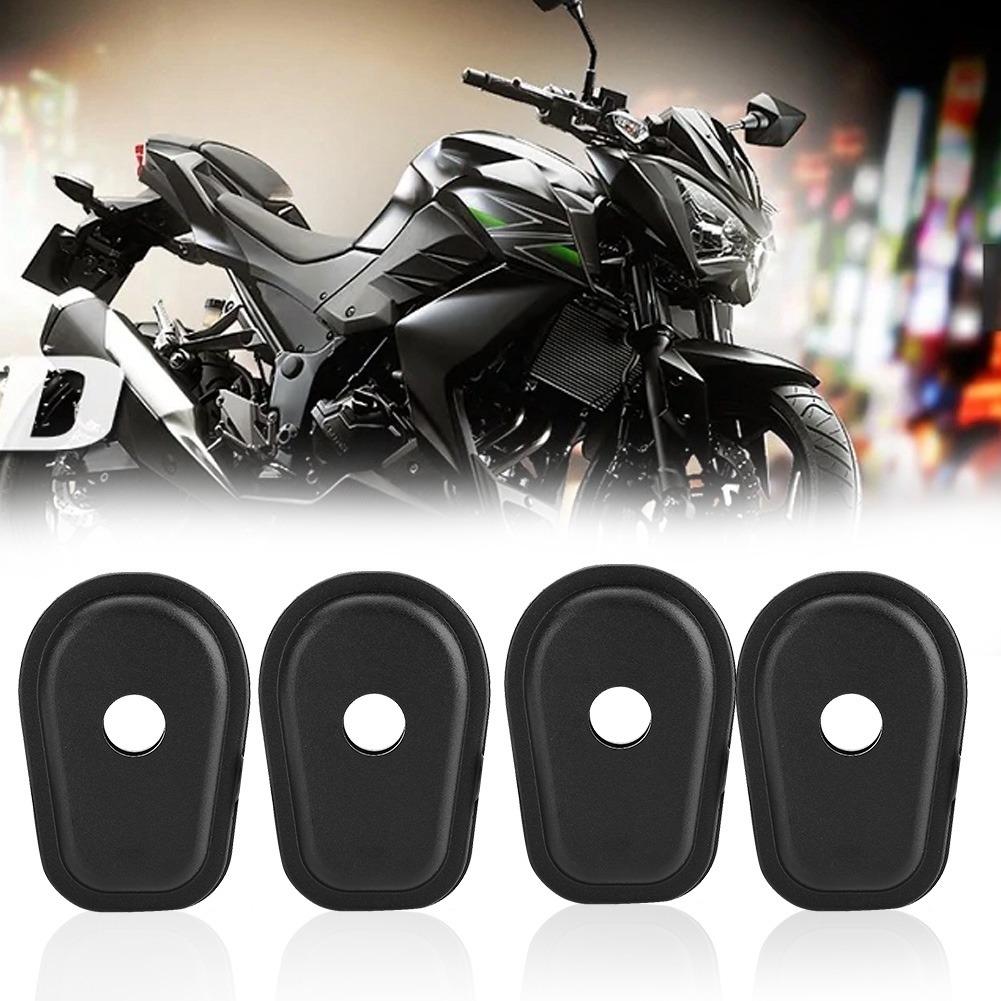Gorgeri 4 pcs Junta de luz de giro de motocicleta Almohadillas de junta de sello de luz de se/ñal de giro de motocicleta para Z250 Z300 Z650 Z750 Z800 Z900 Z1000 Z750S Negro