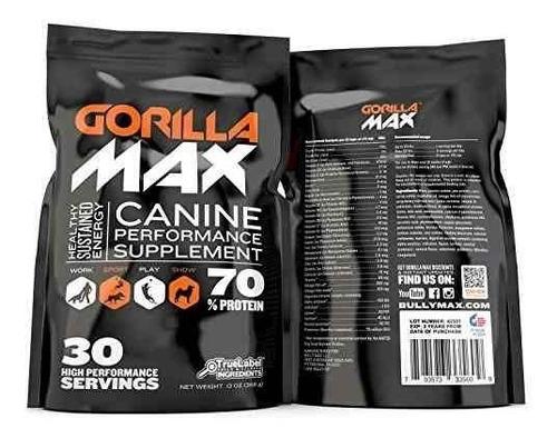 gorila max proteína muscular suplemento para perros tamaño: