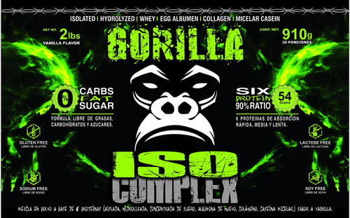 gorilla isocomplex. proteina 100% limp - l a $57500