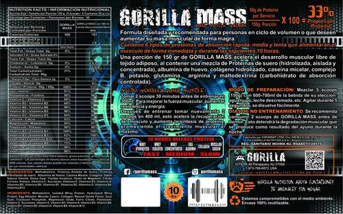 gorilla mass 5lb + obsequio