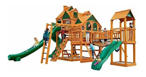gorilla playsets empire extreme swing set wood roof ®