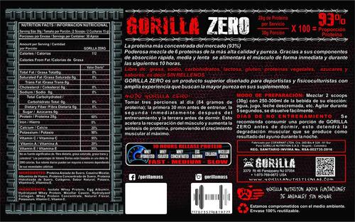 gorilla zero proteina. la mas pura. bipro isoplatinum