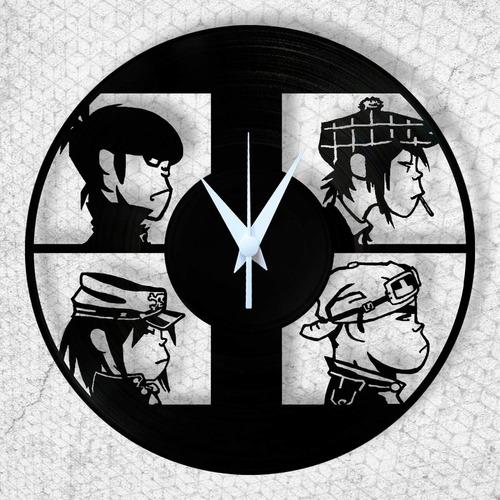 gorillaz relógio parede vinil disco lp musica rock