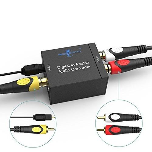 goronya digital coaxial óptico a rca analógico convertidor d
