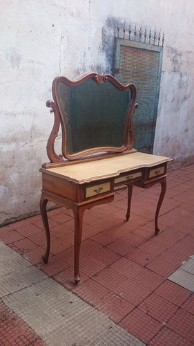 (gorpley) antiga penteadeira provençal em imbuia