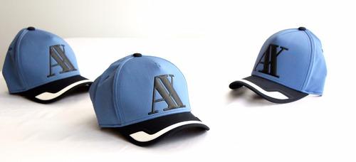 gorra a | x armani exchange raised logo hat denim wash