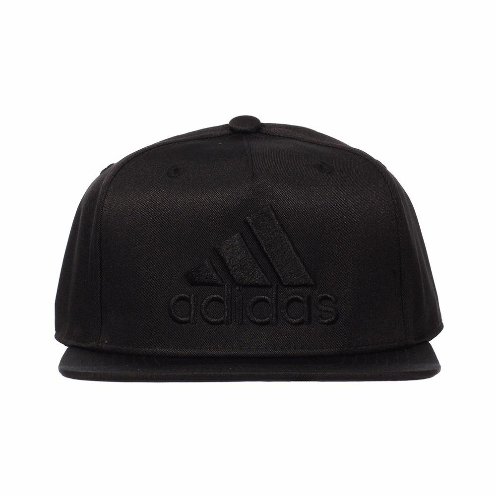 gorra adidas flat negra