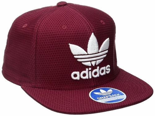 gorra adidas para hombre ajustable borgoña/blanco