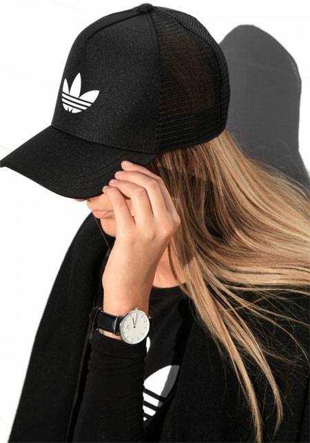 ef18b41b431ab Gorra adidas Trucker Black - Regulable - Mujeres - 2017 -   199