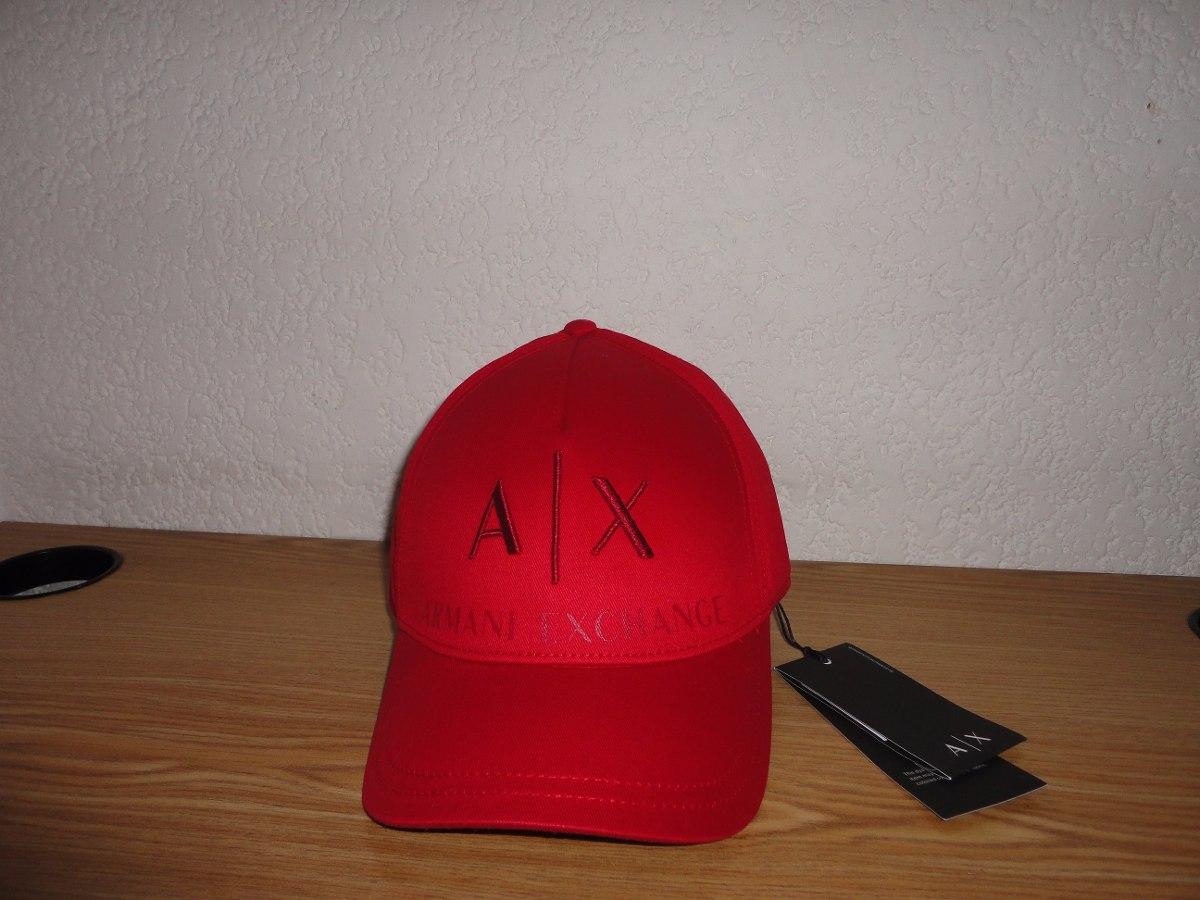 gorras armani exchange rojas 4d34a94c9b9