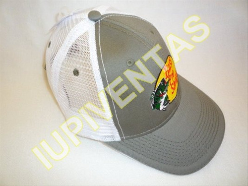 gorra bass pro shops logo bordado y malla blanca iupiventas