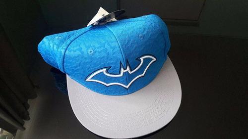 gorra batman azul, ajustable, berkshire, nueva con etiquetas