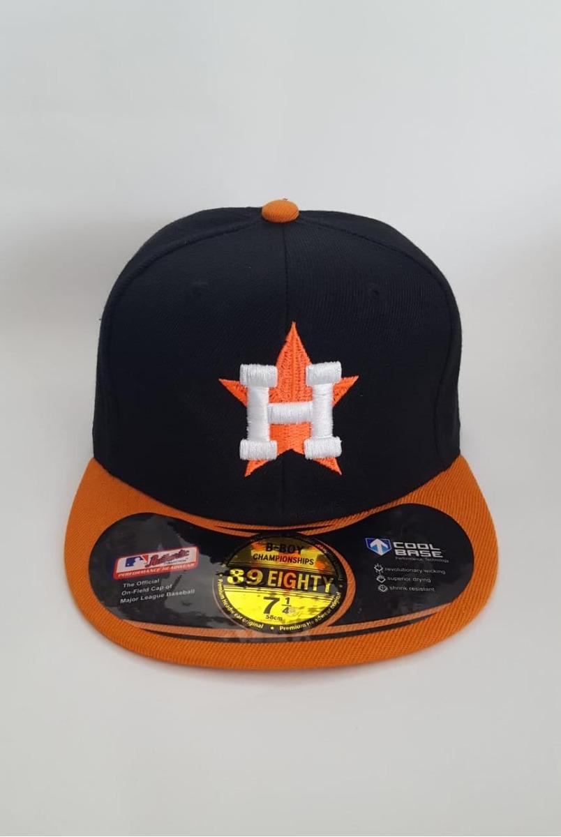 4fc8dd9733279 gorra beisbol astros de houston negra con naranja original. Cargando zoom.