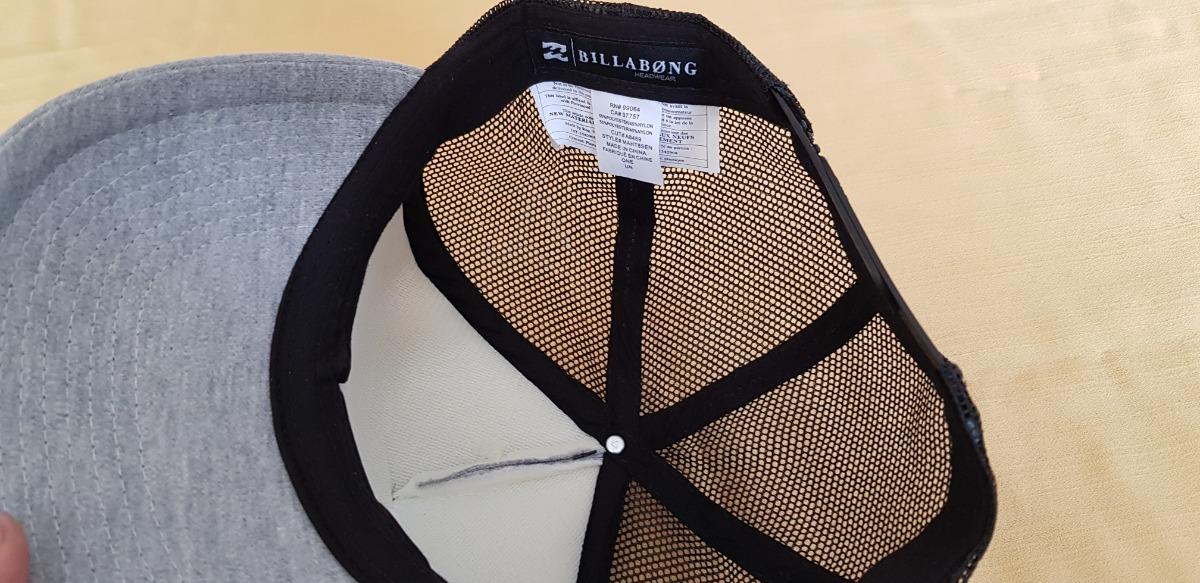 42b0d03804492 gorra billabong de cierre ajustable gris con negro 100% orig. Cargando zoom.