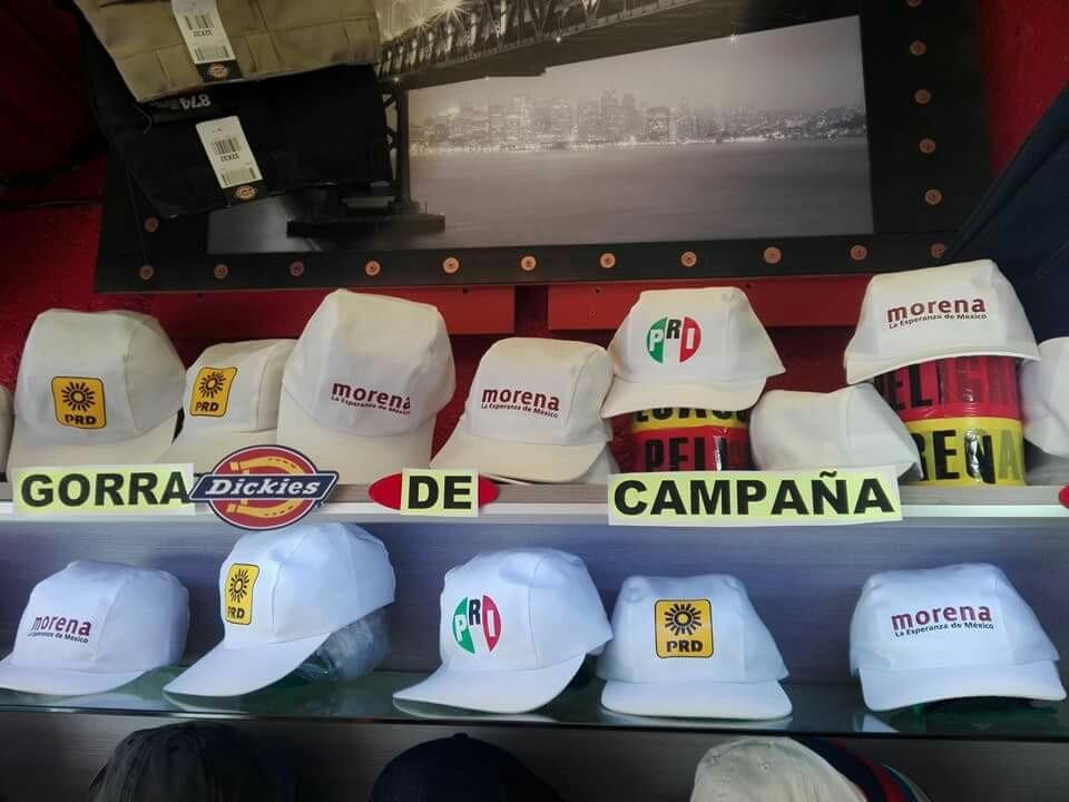 9f557b8e68a21 Gorra Blanca 5 Gajos Campaña Politica Gabardina -   12.50 en Mercado ...