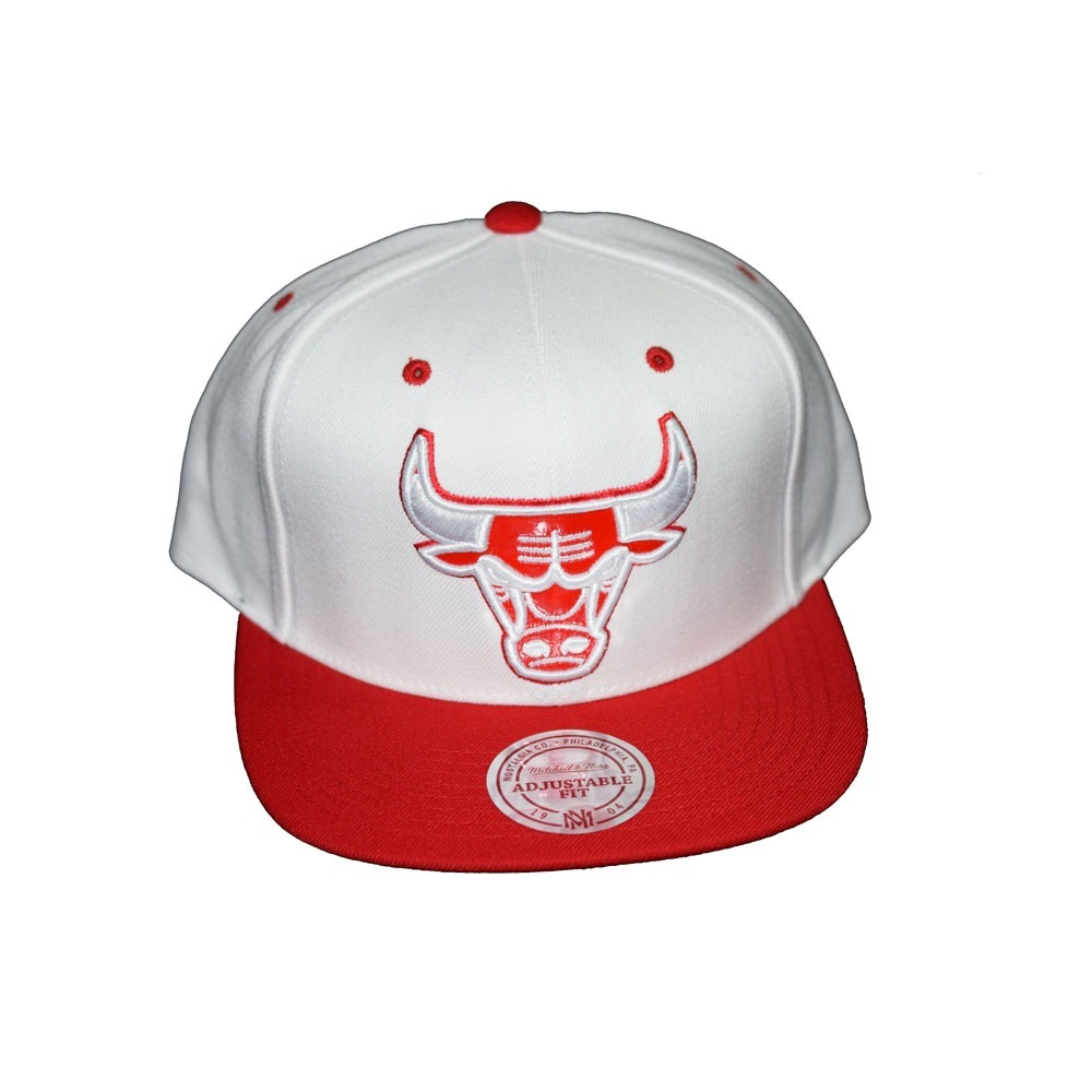 2d727de1ca613 gorra blanca con rojo lana sólido ajustable chicago bulls. Cargando zoom.