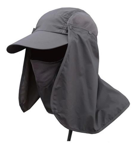 gorra cachucha para el sol con proteccion para cuello y cara