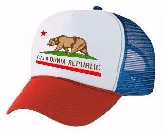 Gorra California Republic - Trucker Unisex Curva Regulable -   250 ... 83cc2c81d16