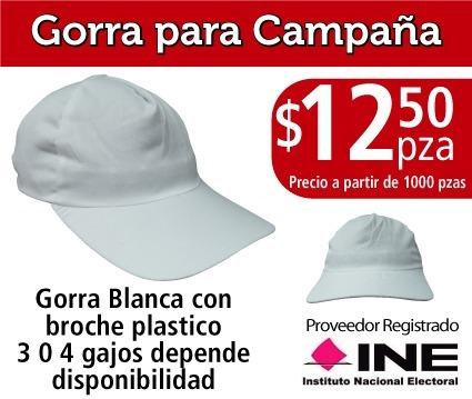 45ff8c866f906 Gorra Campaña Politica De Gabardina -   12.50 en Mercado Libre