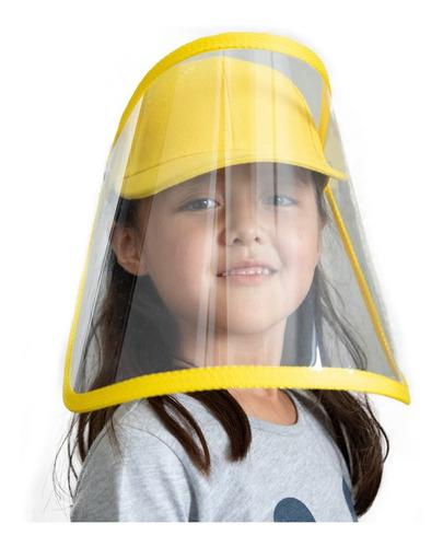 gorra careta de protección transparente ajustable para niño