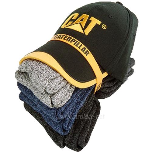 gorra caterpillar + 6 pares calcetines termicos envio gratis