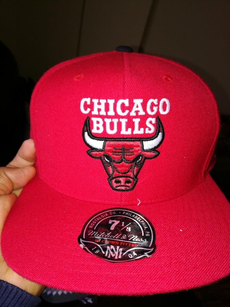 gorra chicago bulls mitchell   ness cerrada talla 7 1 8 nuev. Cargando zoom. 600efb4a520