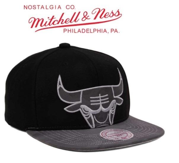 20a16125d8f87 Gorra Chicago Bulls Mitchell   Ness Nuevas Original Snapback - S ...