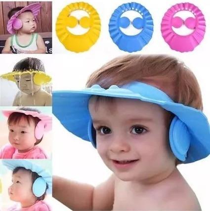 gorra de baño para bebe - vicera protector de oidos