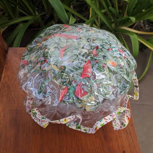 gorra de baño pvc doble regalo dia de la madre
