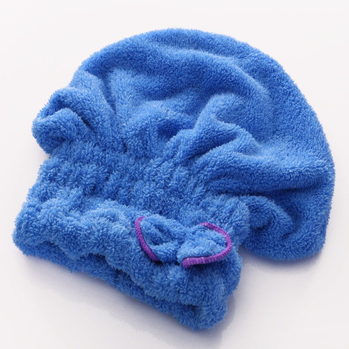 gorra de baño secado del pelo toalla de microfibra
