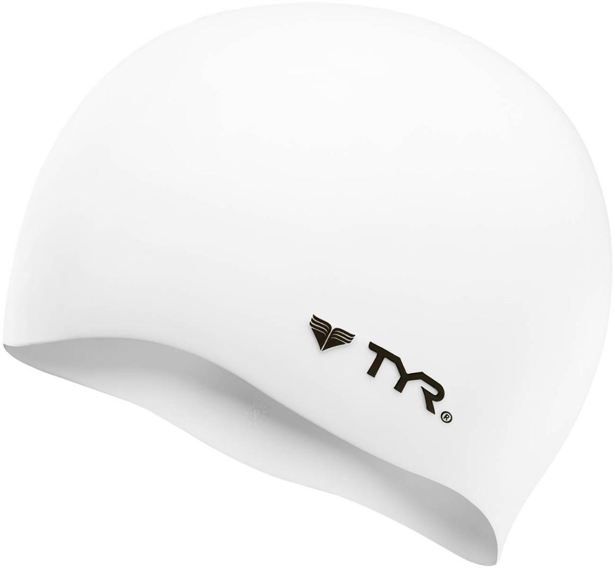 gorra de baño tyr wrinkle-free silicone swim cap blanca. Cargando zoom. 844f0c98c6e