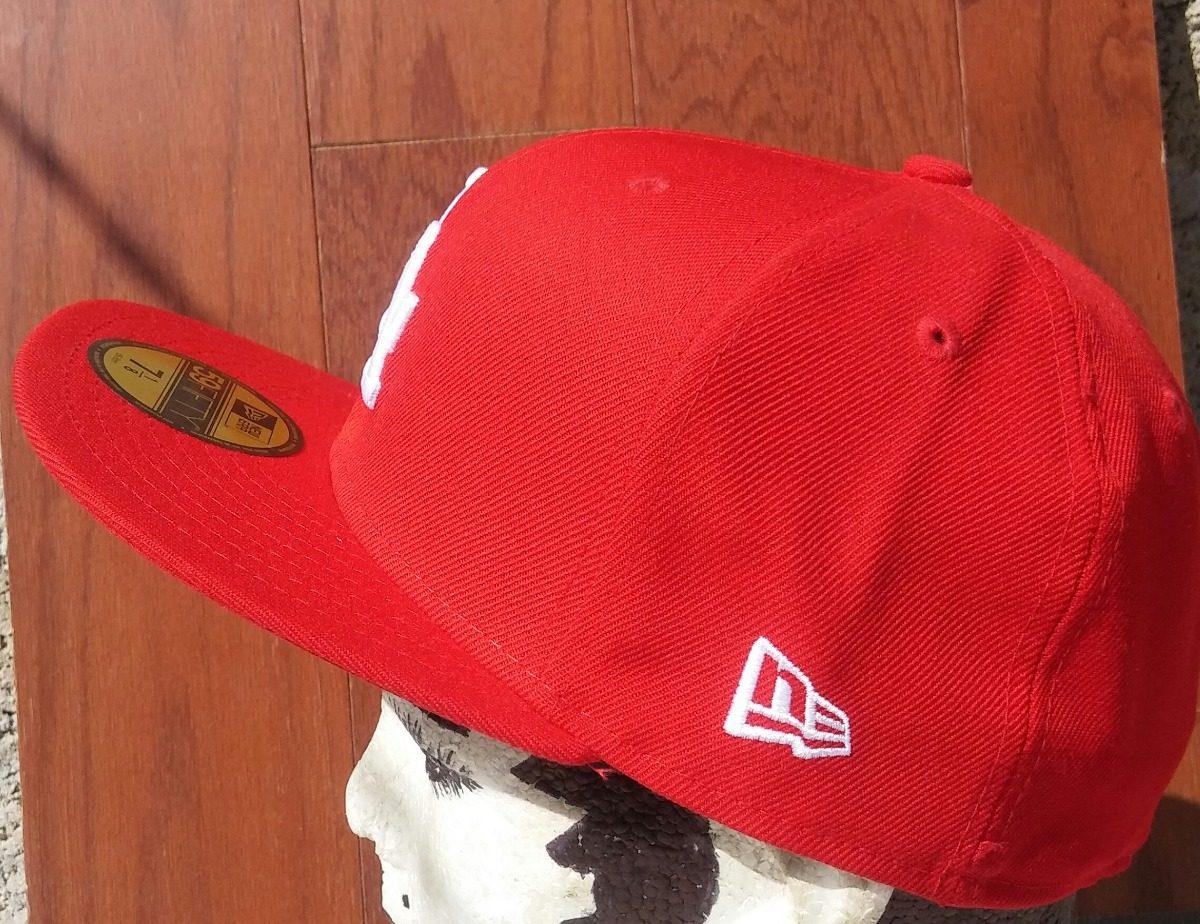 b4f9653b350bc Gorra De Béisbol New Era Roja Del Equipo L. A. 59-ffty. -   399.00 ...
