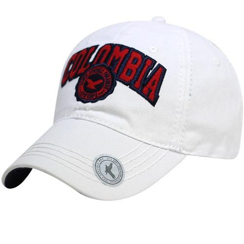 gorra  de colombia bordado visera curva clásica color azul